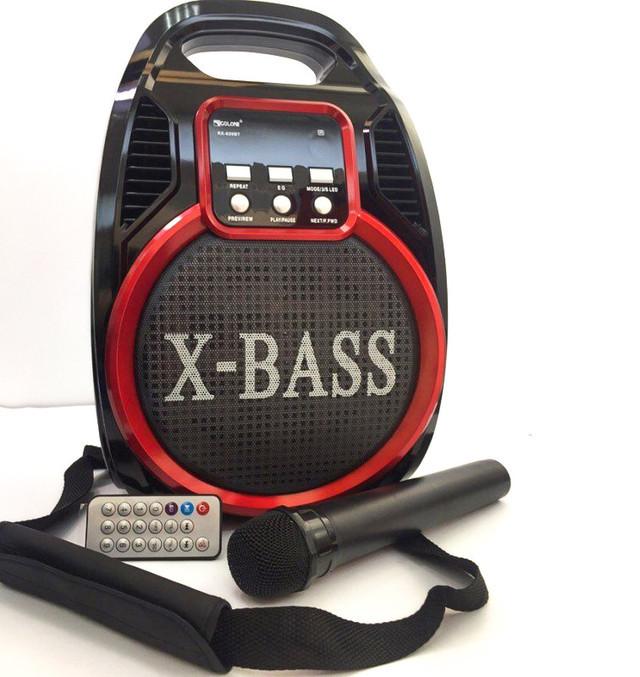Колонка-комбік Golon RX-820 BT, Bluetooth, mp3, радіомікрофон, пульт, світломузика