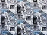Диван дитячий Шпех Принт Сірий 70см (Основа синій) . Диванчик зі спальним місцем 2 метри, фото 2