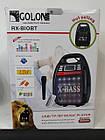Колонка-комбік Golon RX-820 BT, Bluetooth, mp3, радіомікрофон, пульт, світломузика, фото 6