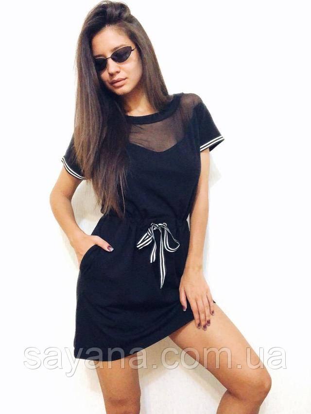 женское платье  с повязкой