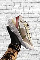 Женские кроссовки Nike React Element 87 зеленые с белым