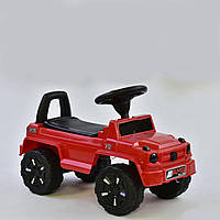 Машина-толокар V-10505 JOY, цвет красный, русское озвучивание, световые эффекты, багажник