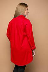 Червона сорочка великих розмірів Перфект, фото 3