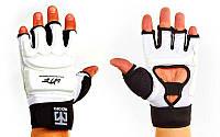 Перчатки для тхэквондо с фиксатором запястья WTF (р-р L-XL, белый)