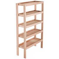 Стеллаж деревянный 150х80х30 см