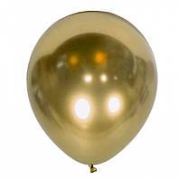 """Воздушные латексные шары """"Хром Золото """"12""""(30см) Хром Золото В упак:50 шт. Пр-во:""""Kalisan"""" Турция"""