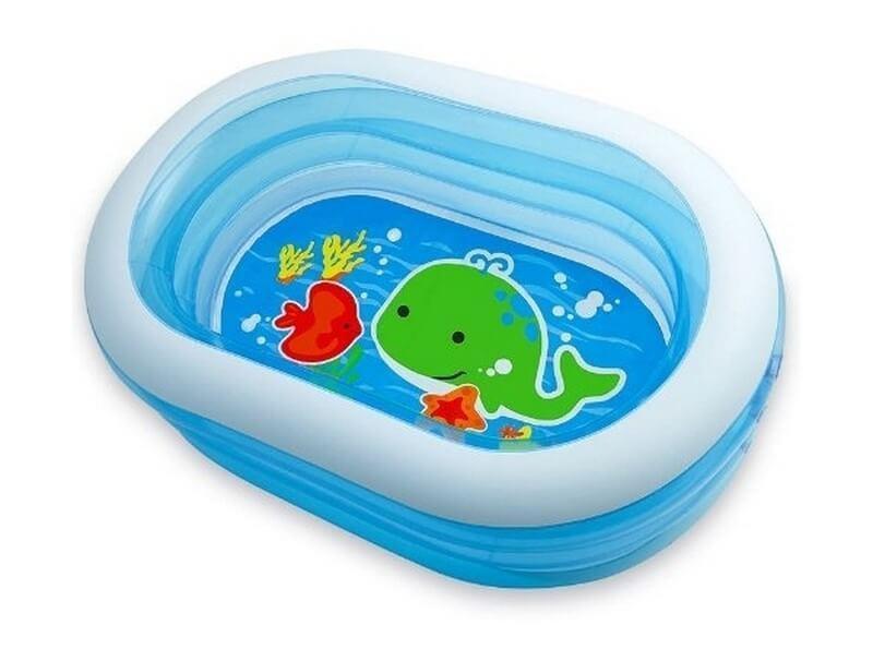 """Бассейн Intex """"Oval Whale Fun Pool"""", 238л, 163х107х46см."""