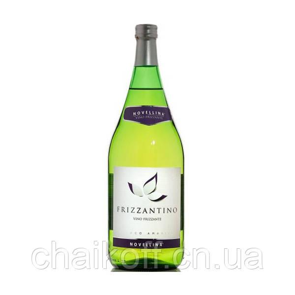 Игристое полусладкое вино Novellina Frizzantino Bianco Amabile 1.5 л (Италия)
