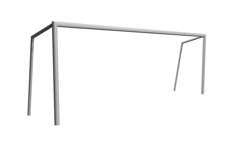 Ворота футбольные без сетки. КД826