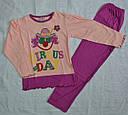 """Детская пижама для девочки """"Клоун""""  фиолетовая (OZTAS, Турция), фото 2"""