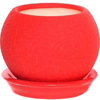 Горшок цветочный Ориана-Запорожкерамика Шар 0.4 л красный шелк
