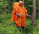 Пончо-тент 3F UL GEAR 15D нейлон 5000 мм силикон 3в1 , накидка от дождя на рюкзак, коврик., фото 2