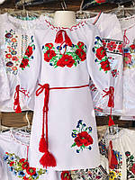 Детское платье вышиванка Маки