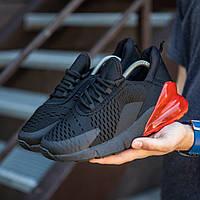 Мужские кроссовки (Кросс Раса 270 черные красная вставка)\\Обувь без бренда
