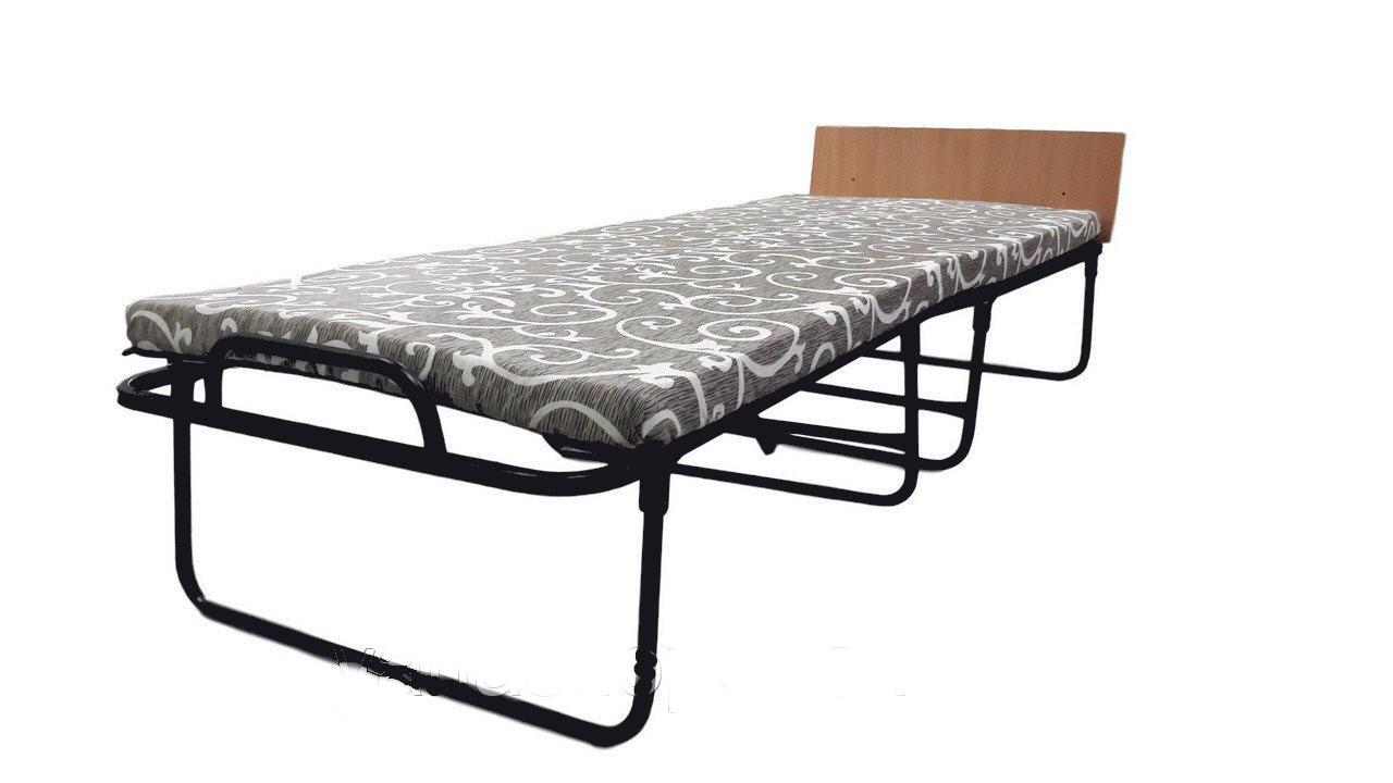 Раскладушка-кровать Венеция 1900х790 мм на ламелях с быльцем и матрасом