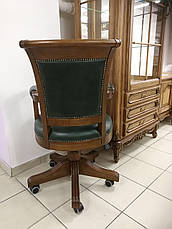 """Кресло для кабинета в коже  """"Оксфорд"""" (В НАЛИЧИИ), фото 3"""