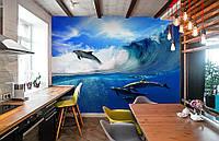 """Флизелиновые Фотообои """"Дельфины"""" от производителя за 1 день. Любая картинка и размер. ЭКО-обои"""