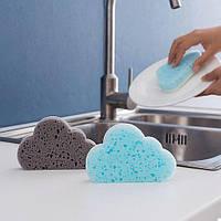 Губка для миття посуду Хмарка Голуба / Губка для мытья посуды Облако Голубая