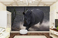 """Флизелиновые Фотообои """"Носорог"""" от производителя за 1 день. Любая картинка и размер. ЭКО-обои"""