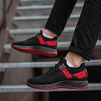 Мужские кроссовки (Кросс Армани черные с красной лентой)\\Обувь без бренда маломиркы