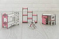 Детская мебель для кукольного домика, Детская комната
