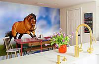 """Флизелиновые Фотообои """"Лошадь"""" от производителя за 1 день. Любая картинка и размер. ЭКО-обои"""