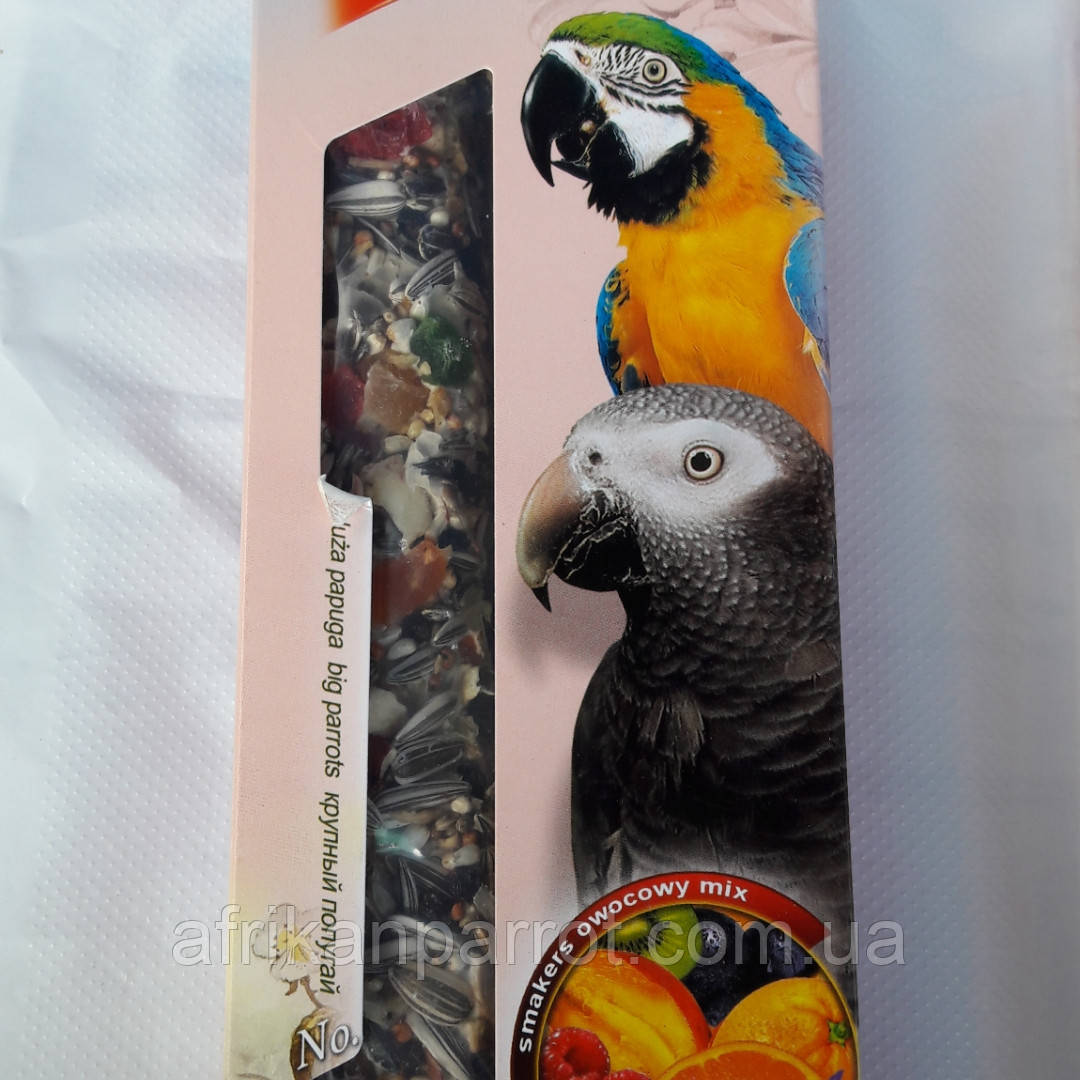 Ласощі LoLo PETS для птахів з фруктами, для великих папуг