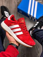 Мужские кроссовки Adidas Iniki Runner (красные)