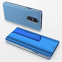 Чехол Mirror для Xiaomi Redmi Note 4 / Note 4 Pro (Mediatek) книжка Blue