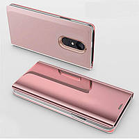 Чехол Mirror для Xiaomi Redmi Note 4 / Note 4 Pro (Mediatek) книжка Rose