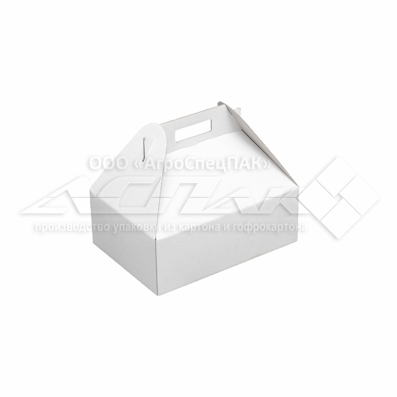 Коробка с ручками 310х220х110, белая
