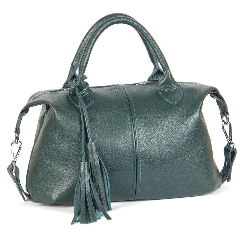 Женская кожаная сумочка 20 зеленый флотар 01200106