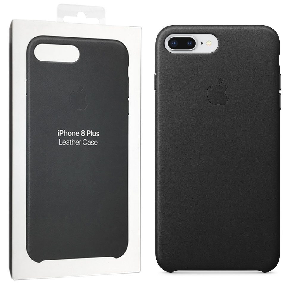 Кожаный чехол Apple-Leather Case для iPhone 7 Plus /8 Plus – Black (MQHM2ZM/A)