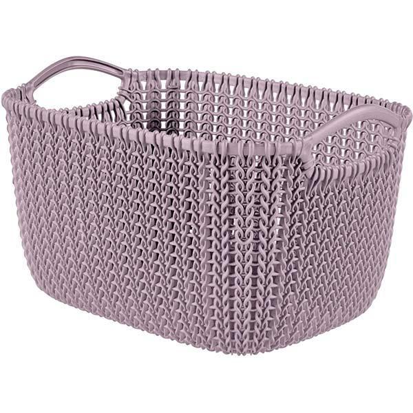 Корзина Curver Knit S 30x22x17 см пудровая