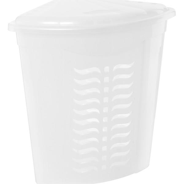 Корзина для белья Ал-Пластик угловая белая 42 л