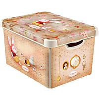 Ящик для вещей Curver Чаепитие Gapchinska S кремовый