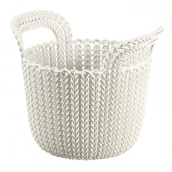 Корзина для вещей Curver Knit XS круглая 23x19x19 см белая