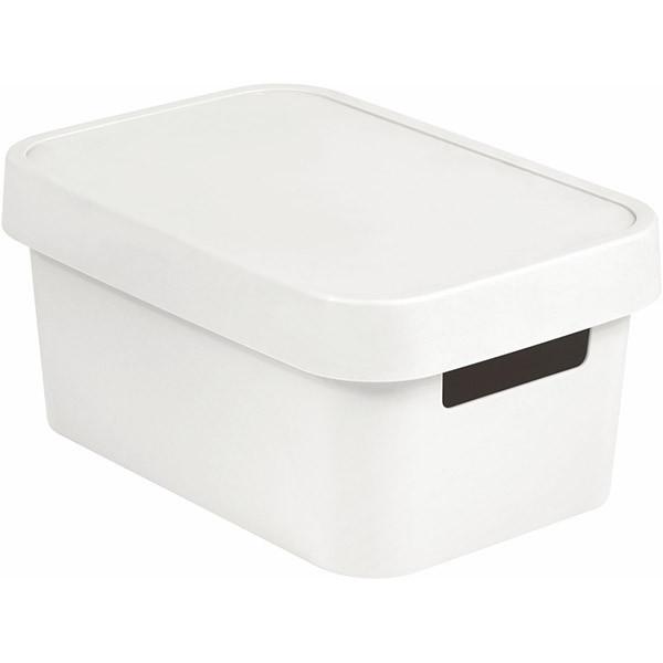 Коробка пластиковая с крышкой Curver Infinity 229113 белая 4.5 л