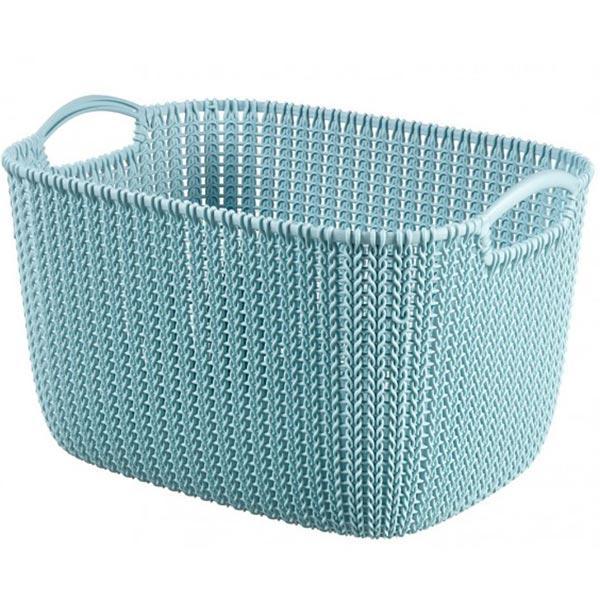 Корзина для вещей Curver Knit L прямоугольная  40x30x23 см голубая