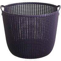 Корзина для вещей Curver Knit 40x39x33 см фиолетовая