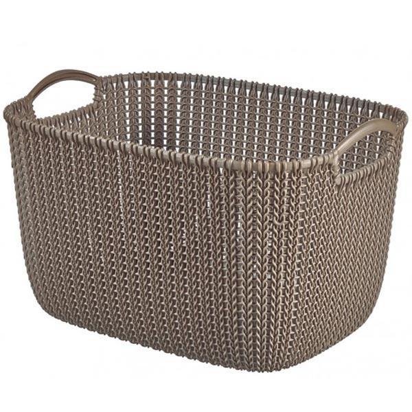 Корзина для вещей Curver Knit L прямоугольная  40x30x23 см темно-коричневая