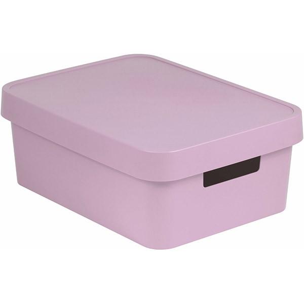 Коробка пластиковая с крышкой Curver Infinity 229281 розовая 11 л