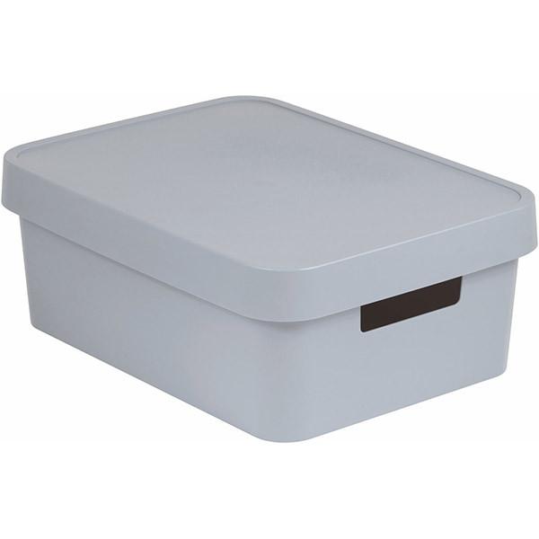 Коробка пластиковая с крышкой Curver Infinity 229246 серая 11 л
