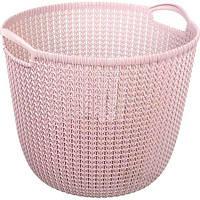 Корзина Curver Knit 40x39x33 см пудровая