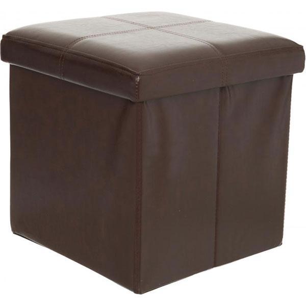 Ящик-пуф складной 380x380x380 мм коричневый