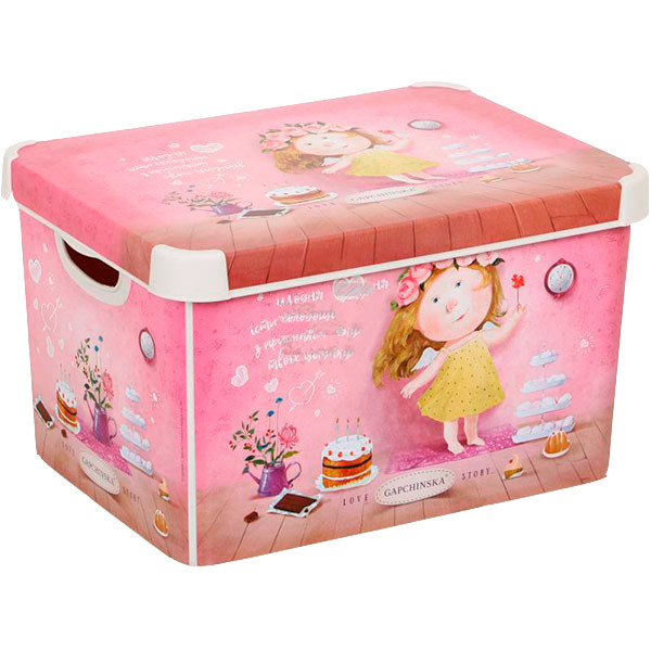 Ящик для вещей Curver Love Story Gapchinska L розовый