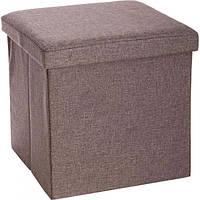 Ящик-пуф складной 360x240x240 мм коричневый, фото 1