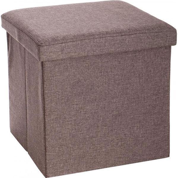 Ящик-пуф складной 360x240x240 мм коричневый
