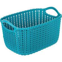 Корзина для вещей Curver Knit XS темно-синяя