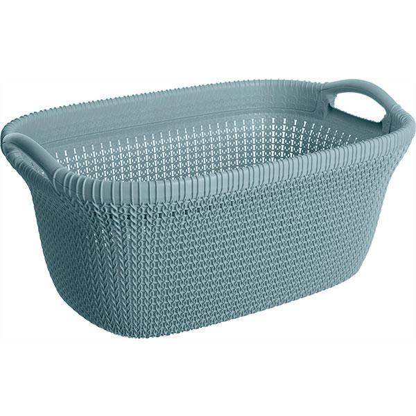 Корзина для вещей Curver Knit 40 л синяя